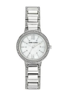 Anne Klein Women's Crystal Bracelet Watch, 30mm