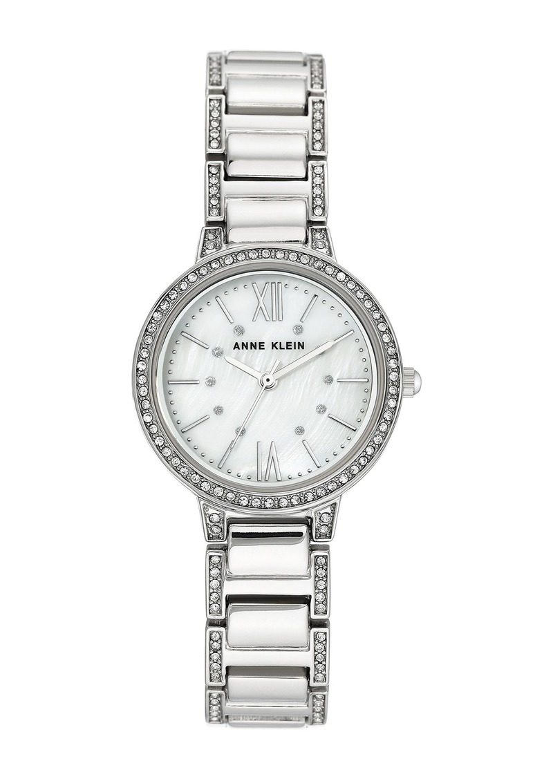 Anne Klein Women's Crystal Bracelet Watch, 30mm