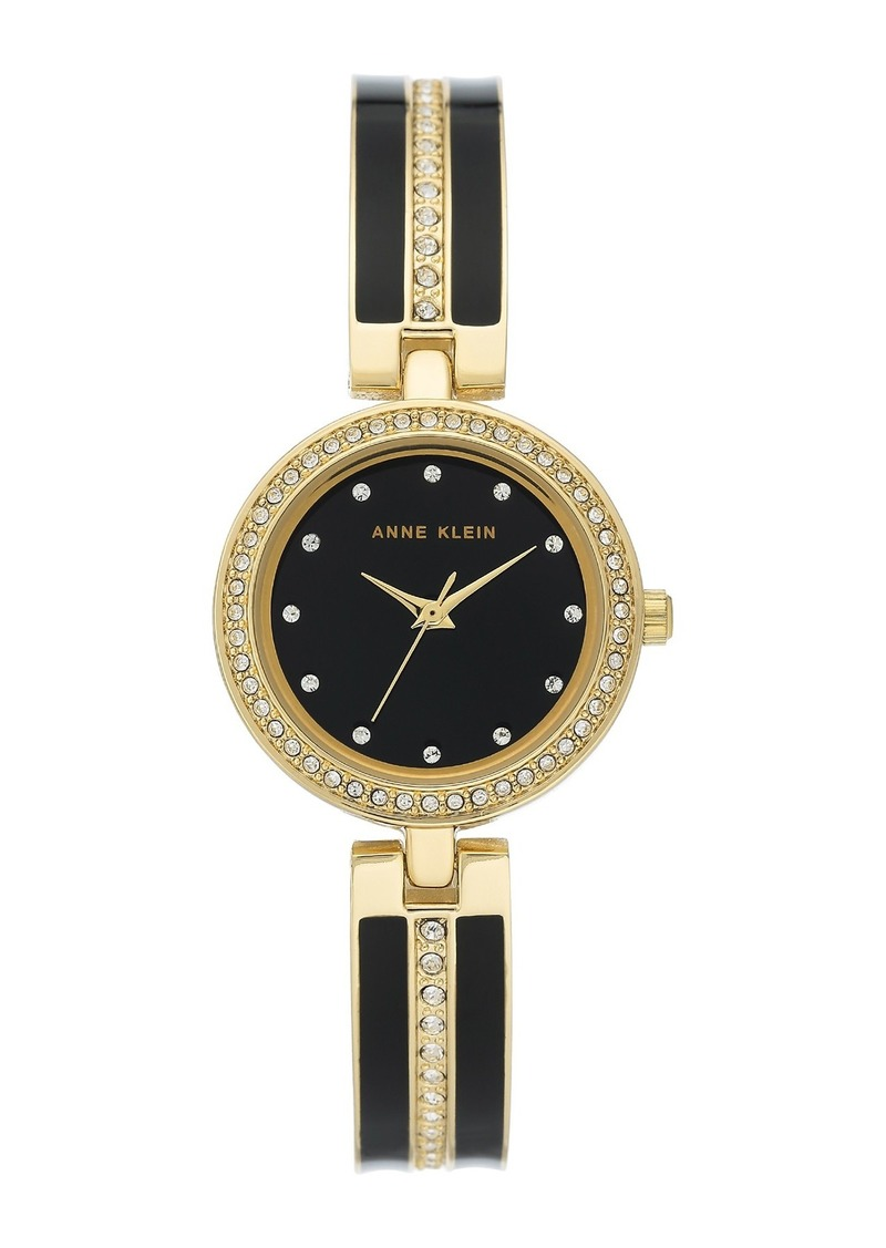 Anne Klein Women's Crystal Embellished Bangle Watch, 26mm