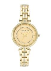Anne Klein Women's Crystal Embellished Bracelet Watch, 30mm