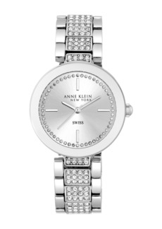 Anne Klein Women's Crystal Pave Bracelet Watch, 38mm