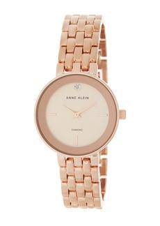 Anne Klein Women's Diamond Dial Bracelet Watch, 30mm