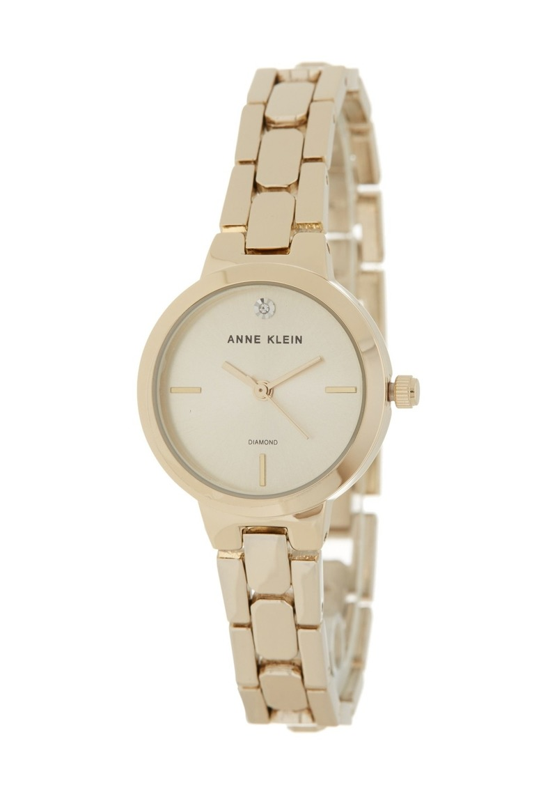 Anne Klein Women's Diamond Dial Bracelet Watch