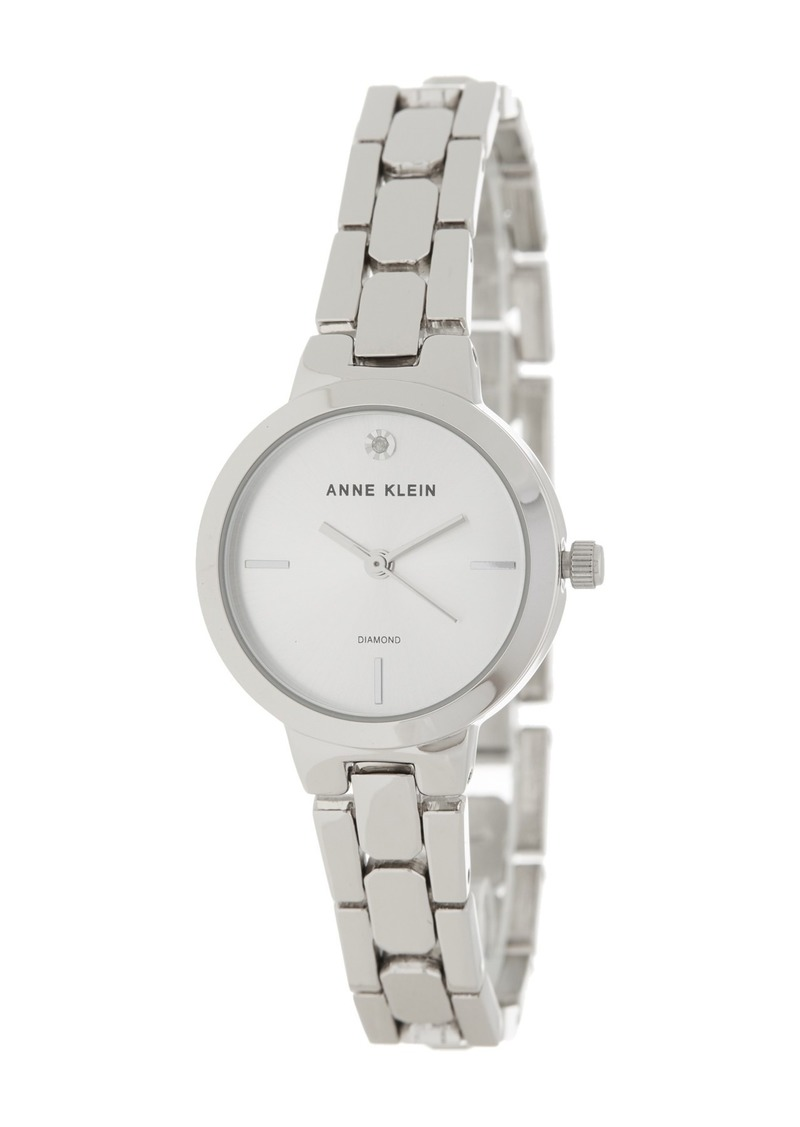Anne Klein Women's Diamond Dial Bracelet Watch, 26mm