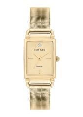 Anne Klein Women's Diamond Mesh Strap Watch, 21x39mm - 0.005 ctw