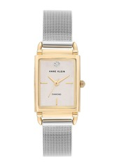 Anne Klein Women's Diamond Mesh Strap Watch, 21x39mm