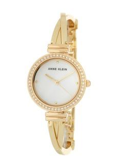 Anne Klein Women's Embellished Gold Bangle Watch