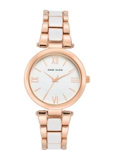Anne Klein Women's Enamel Bracelet Watch, 33mm
