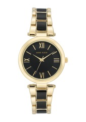 Anne Klein Women's Enamel Bracelet Watch, 33mm