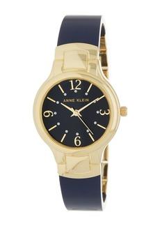 Anne Klein Women's Gold-Tone Round Case Bangle Watch, 30mm