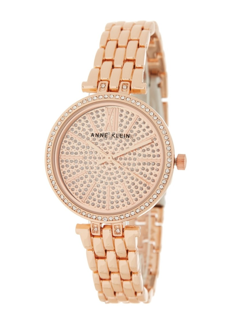 Anne Klein Women's Pave Crystal Bracelet Watch