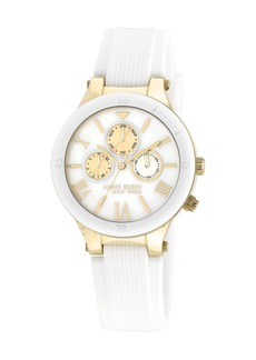 Anne Klein Women's Silicone Strap Watch, 40mm
