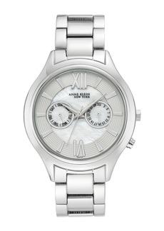Anne Klein Women's Silver-Tone Swiss Movement Watch, 40mm