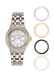Anne Klein Women's Two-Tone Bracelet Watch, 34.5mm - 5-Piece Set