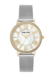 Anne Klein Women's Two-Tone Stainless Steel Mesh Bracelet Watch, 34mm