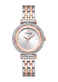 Anne Klein Women's Two-Tone Swarovski Crystal Bracelet Watch, 36mm