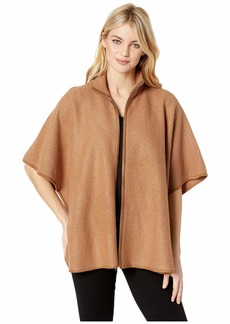 Anne Klein Wool Zip Front Cape
