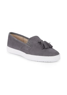 Anne Klein Zane Slip-On Suede Sneakers