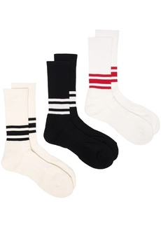 Anonymous Ism three-piece striped sock set