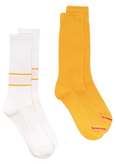 Anonymous Ism pack of two ribbed socks set