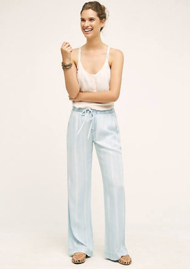 Anthropologie                          Chambray Stripe Wide-Legs