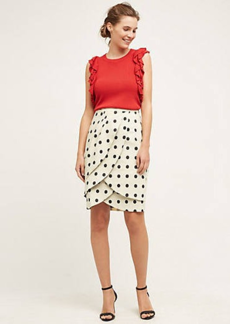 Anthropologie                          Polka-Dot Pencil Skirt