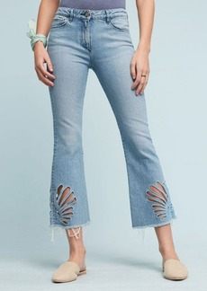 3x1 NYC W25 Freja Mid-Rise Slim Cropped Bell Jeans