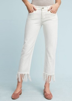Anthropologie 3x1 NYC WM3 High-Rise Straight Cropped Fringe Jeans