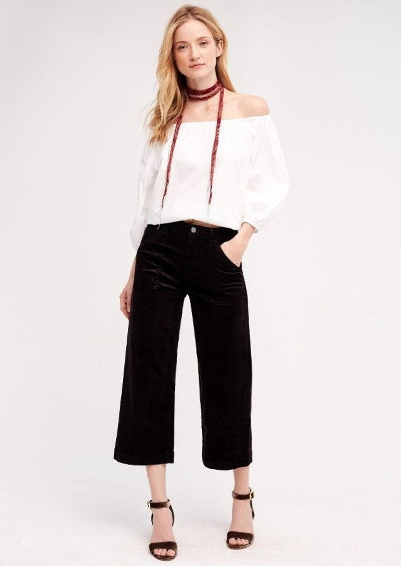 Anthropologie 7 For All Mankind High-Rise Corded Culottes