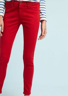Anthropologie AG The Abbey Sateen Mid-Rise Skinny Ankle Jeans