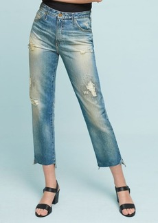 AG The Phoebe Ultra High-Rise Straight Cropped Jeans