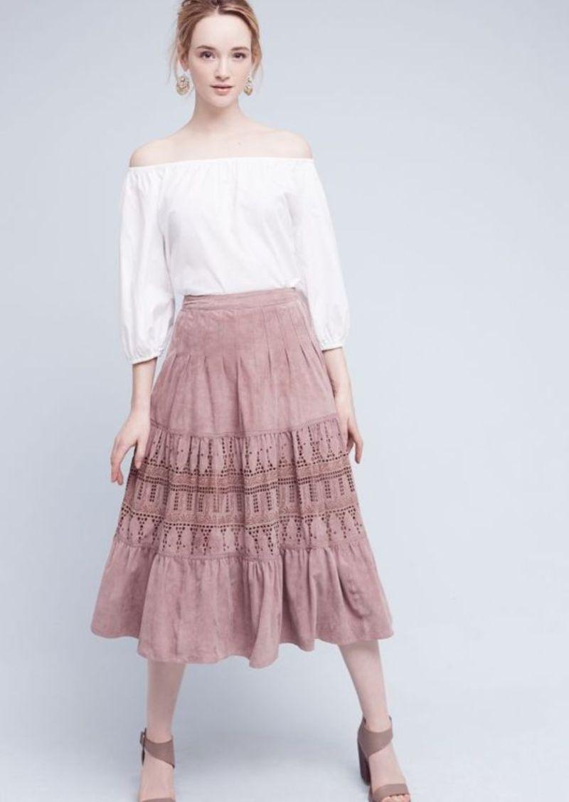 Anthropologie Aldane Suede Midi Skirt | Skirts - Shop It To Me