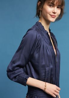 Anthropologie Alexe Embroidered Bomber