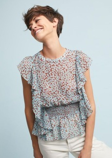 Anthropologie Allegra Smocked Blouse