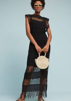 Anthropologie Amelia Crocheted Maxi Dress