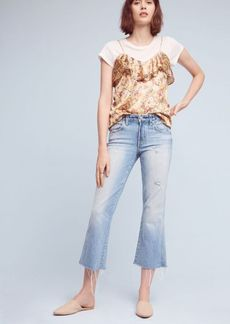 AMO Kick Mid-Rise Cropped Flare Jeans