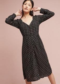 Anthropologie Annie Plaid Midi Dress