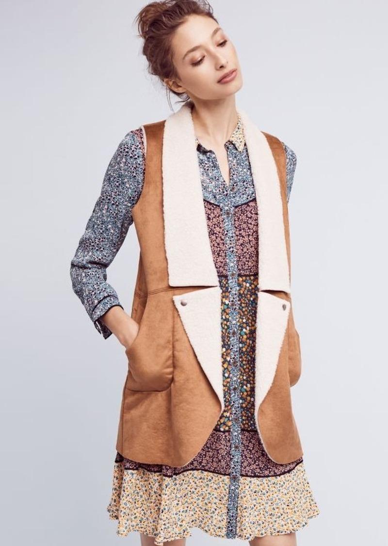 Anthropologie Ashton Faux-Fur Vest