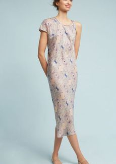 Anthropologie Astrid Open-Shoulder Midi Dress