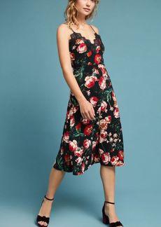 Anthropologie Autumnal Slip Dress