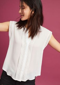 Anthropologie Bayley Lace Buttondown