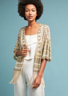 Beaded Fringe Kimono Jacket