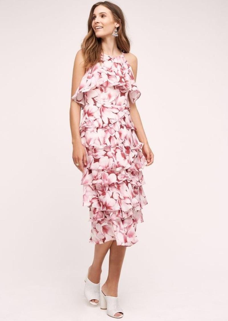Anthropologie Begonia Silk Dress