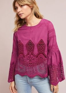 Bell-Sleeve Lace Pullover