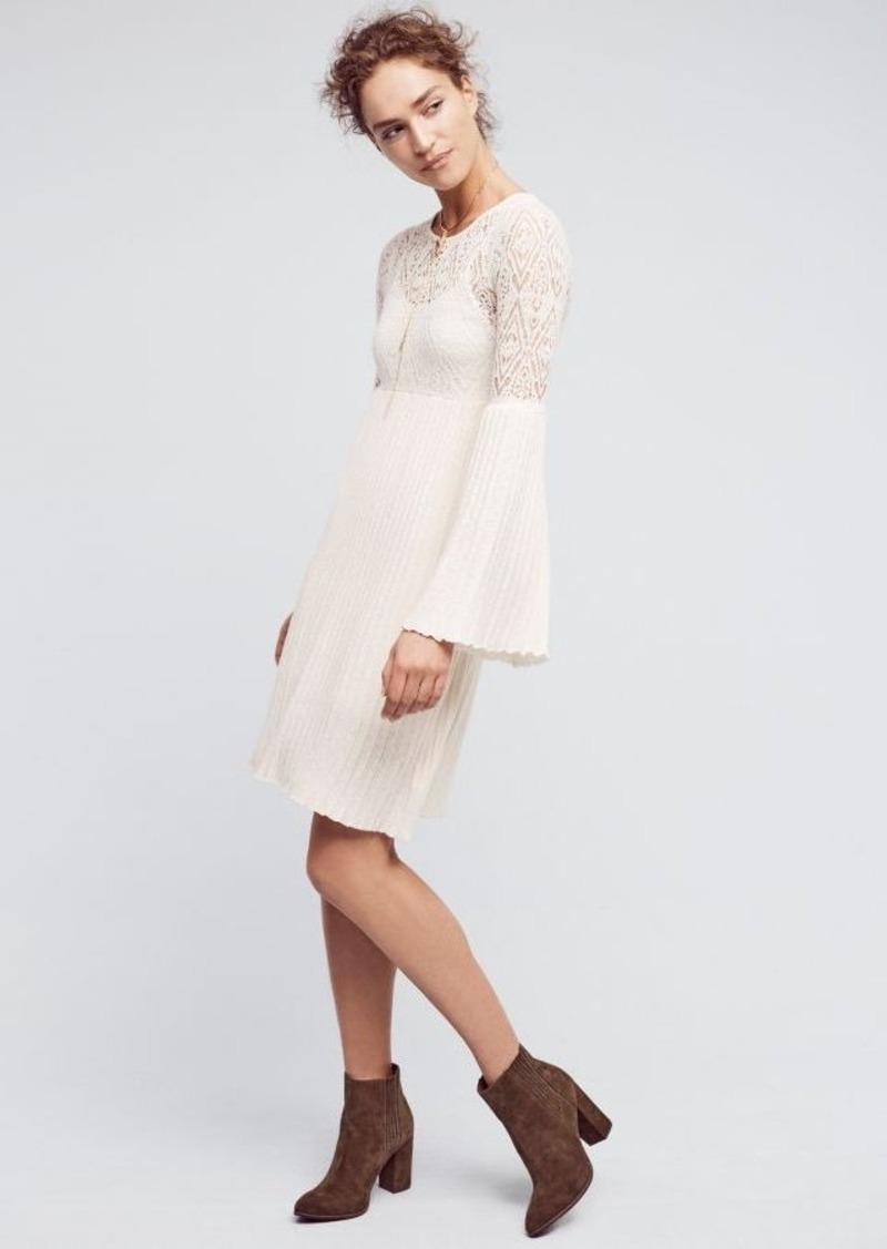 Anthropologie Bell-Sleeve Sweater Dress