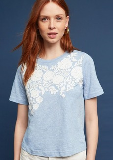 Anthropologie Blanche Embroidered Top