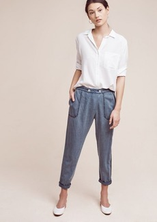 Anthropologie Bradley Chambray Trousers