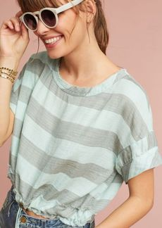 Anthropologie Breezy Drawstring Cropped Tee