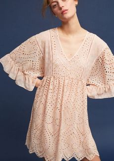 Anthropologie Brooke Eyelet Swing Dress