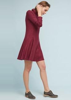 Brushed Fleece Mock Neck Dress